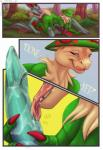 2015 anthro areola balls black_scales blue_eyes breasts breloom bush_(disambiguation) chest_tuft claws comic digital_media_(artwork) female flora_fauna goldenemotions grass green_penis green_scales licking licking_lips looking_back lying male male/female membranous_wings nintendo nipples noivern on_back open_mouth oral outside penis penis_lick plant pokémon pokémon_(species) red_eyes red_scales scales sex shiny_pokémon smile tapering_penis teeth text toe_claws tongue tongue_out tree tuft video_games wings yellow_eyesRating: ExplicitScore: 11User: HeteroxonDate: October 22, 2017