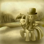 bow_tie dragon duo equine female feral friendship_is_magic hat horn madmax male mammal monochrome my_little_pony reins saddle scalie sepia spike_(mlp) tree twilight_sparkle_(mlp) unicorn wood  Rating: Safe Score: 2 User: Miss_Fluttershy Date: June 07, 2011