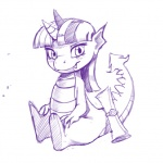 dragon equine female friendship_is_magic horn horse kevinsano mammal my_little_pony plain_background pony scalie sketch solo spike_(mlp) twilight_sparkle_(mlp) white_background   Rating: Safe  Score: 7  User: jojo400  Date: April 18, 2012