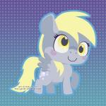 blonde_hair chibi cute cutie_mark derpy_hooves_(mlp) equine female friendship_is_magic fur grey_fur hair happy horse low_res mammal miss-glitter_(artist) my_little_pony pattern_background pony simple_background smile solo white_sclera wings yellow_eyes  Rating: Safe Score: 7 User: SwiperTheFox Date: November 06, 2015