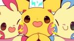 ambiguous_gender cheek_dots cheek_to_cheek electricity feral fur group love mino_(artist) minun nintendo nuzzling open_mouth open_smile pichu plusle pokémon pokémon_(species) smile video_games yellow_furRating: SafeScore: 44User: slyroonDate: October 10, 2016