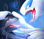 2016 ambiguous_gender chigiri drooling duo eye_contact feral hi_res japanese_text kissing legendary_pokémon lugia nintendo open_mouth pokémon reptile saliva saliva_string scalie sweat teeth text tongue tongue_out translated video_games zekromRating: QuestionableScore: 36User: Mr.RaptorDate: December 23, 2016