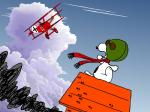aircraft airplane angry canine cloud dog dukenn eyewear flying german goggles mammal peanuts pilot scarf sky smoke snoopy  Rating: Safe Score: 0 User: Acolyte Date: August 05, 2015