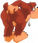 2015 anthro anus balls banjo-kazooie banjo_(banjo-kazooie) bear blue_eyes blush bowserboy101 butt fur looking_at_viewer looking_back male mammal necklace nude penis plain_background presenting presenting_hindquarters solo spreading video_games   Rating: Explicit  Score: 1  User: fuckingnobody  Date: May 04, 2015