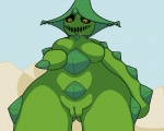 aliasing big_thighs breasts cacturne chubby desert female flora_fauna hand_on_breast humanoid nintendo nude outside plant pokémon pussy solo standing trapmagius video_games yellow_eyes   Rating: Explicit  Score: 6  User: Neitsuke  Date: January 03, 2013