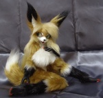 anthro blonde_hair bureido canine doll eyewear female fluffy fox front_view fursuit green_eyes hair japan mammal nude paws photo real siva solo teeth  Rating: Safe Score: 10 User: Wadxxx Date: November 09, 2014