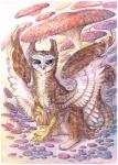2013 avian bird black_sclera brown_feathers drachenmagier feathers gryphon mushroom owl owlgryphon purple_eyes white_feathers  Rating: Safe Score: 2 User: Furrin_Gok Date: January 24, 2016