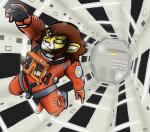 2001:_a_space_odyssey brown_hair cheetah feline hair jumping mammal ritzcrakerz space space_suit vonboche   Rating: Safe  Score: 6  User: Riho  Date: April 12, 2014
