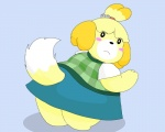 animal_crossing anthro blush canine clothing dog female gnight isabelle_(animal_crossing) looking_at_viewer looking_back mammal nintendo overweight shih_tzu skirt solo video_games  Rating: Safe Score: 1 User: Juni221 Date: June 21, 2014""