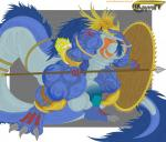 abs akayrom47 anthro athletic balls biceps big_balls big_muscles big_penis feathers flaccid hi_res horn huge_balls male melee_weapon muscular muscular_male pecs penis polearm scalie shield solo spear standing warrior weapon  Rating: Explicit Score: 2 User: charin Date: May 24, 2015