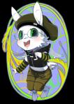 anthro askdion blush chibi collar cute eyewear glasses hat lagomorph male mammal piercing rabbit solo yeneeko_matsuda   Rating: Safe  Score: 4  User: No-Problem-Bro  Date: February 04, 2015