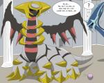 2015 6_legs ? absurd_res black_wings blue_body comic dialga digital_media_(artwork) english_text fangs feral gem giratina grey_body hi_res legendary_pokémon museum nervous nintendo open_mouth pokémon post_transformation red_eyes text tfsubmissions thought_bubble video_games wingsRating: SafeScore: 2User: BooruHitomiDate: May 14, 2017