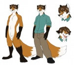 anthro balls brown_eyes brown_hair canine clothing fox fully_sheathed hair jailbird male mammal model_sheet nude sheath short_hair simple_background solo sweater white_background  Rating: Explicit Score: 0 User: baracudaboy Date: September 19, 2010