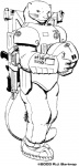 2003 anthro astronaut black_and_white bullpup gun line_art male mammal monochrome mustelid otter plain_background ranged_weapon richard_bartrop rifle rocket solo spacesuit weapon white_background   Rating: Safe  Score: 2  User: Chrontius  Date: July 07, 2010