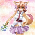 abstract_background anthro brown_fur canine clothed clothing female flower fox fur grey_eyes hair_bow looking_at_viewer mammal multicolored_fur necktie open_mouth pink_fur plant pleated_skirt pose purple_skirt ribbons ruffles shirt shirt_collar skirt solo standing upskirt 徹子   Rating: Safe  Score: 9  User: queue  Date: October 20, 2011