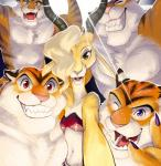 antelope anthro antlers blonde_hair brown_fur chest_tuft claws clothed clothing disney eyes_closed fangs feline female fur gazelle gazelle_(zootopia) green_eyes group hair horn interspecies male mammal muscular one_eye_closed open_mouth orange_fur pecs pink_nose predator/prey_relations purple_eyes red_eyes selfie shorts smile stripes stripper_tiger_(zootopia) teeth tiger tongue topless tuft unknown_artist white_fur yellow_eyes zootopia  Rating: Safe Score: 23 User: Optisiast Date: January 16, 2016