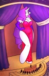 2012 anthro anthrofied big_breasts breasts cleavage clothed clothing dress elbow_gloves equine female friendship_is_magic fur giant gloves hair hi_res hooves horn huge_breasts jessica_rabbit long_hair looking_down macro makeup mammal micro my_little_pony orchestra purple_eyes purple_hair rarity_(mlp) scene sheela smile solo standing unicorn voluptuous white_fur wide_hips   Rating: Safe  Score: 8  User: Fur_in_the_dark  Date: October 06, 2012
