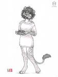 2015 bacon breakfast clothed clothing eating feline female food half-dressed kacey lion mammal morning pancake sketch solo  Rating: Safe Score: 8 User: TonyLemur Date: November 29, 2015