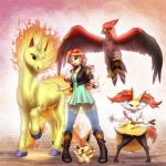 2016 absurd_res ambiguous_gender anthro braixen canine clothed clothing crossover equestria_girls equine fangs feathered_wings feathers female fire flaming_tail fox group hair hi_res holding_object holding_pokéball hooves horn human inner_ear_fluff jacket leather leather_jacket legendary_pokémon long_hair mammal multicolored_hair my_little_pony mykegreywolf nintendo one_eye_closed open_mouth pokéball pokémon rapidash stick sunset_shimmer_(eg) talonflame talons team_pose two_tone_hair unicorn v_sign victini video_games wings wink