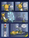 blood braviary comic female gun male mienshao nintendo pokémon pokémon_(species) pokémon_mystery_dungeon racingwolf_(artist) raichu ranged_weapon tyrogue video_games weapon