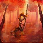 "ambiguous_gender autumn joltik_(artist) leavanny nintendo pokémon red_eyes red_theme solo video_games  Rating: Safe Score: 1 User: slyroon Date: December 21, 2014"""
