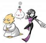 <3 alphys black_hair blush buckteeth cubewatermelon eyes_closed eyewear female glasses group hair hair_over_eye lab_coat machine male mettaton monster open_mouth robot scales scalie smile smoke teeth undertale volcano vulkin yellow_scales  Rating: Safe Score: 0 User: ROTHY Date: October 06, 2015