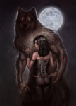 anthro biceps black_hair black_nose brown_fur canine capprotii claws clothed clothing couple detailed digital_media_(artwork) duo female full_moon fur green_eyes guardian hair hug human human_on_anthro interspecies larger_male long_hair looking_at_viewer male male/female mammal moon muscular night no_pupils nude pose size_difference smaller_female standing were werewolf  Rating: Safe Score: 9 User: Vanzilen Date: November 27, 2015