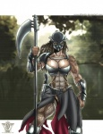 abs alien armor attlantic belt biceps big_breasts breasts cleavage clothed clothing dreadlocks female gauntlets knife mask muscles muscular_female predator_(franchise) scythe warrior weapon yautja   Rating: Questionable  Score: 8  User: misspriss  Date: March 01, 2012