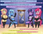 2015 animal_genitalia anthro anthrofied balls big_balls big_breasts blue_hair blue_skin blush breasts cleavage clothed clothing dialogue dickgirl earth_pony elbow_gloves english_text equine erection female fluttershy_(mlp) friendship_is_magic gloves group hair horn horse horsecock hourglass huge_breasts intersex legwear long_hair looking_at_viewer mammal my_little_pony open_mouth pegasus penis phurie pink_hair pink_skin pinkie_pie_(mlp) pony purple_skin skirt smile standing text thigh_highs trixie_(mlp) twilight_sparkle_(mlp) unicorn voluptuous winged_unicorn wings yellow_skin  Rating: Explicit Score: 18 User: lemongrab Date: August 22, 2015