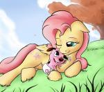 canine cartoon courage courage_the_cowardly_dog cute cutie_mark diaper dog duo equine female fluttershy_(mlp) friendship_is_magic fur grass green_eyes hair happy male mammal my_little_pony nobody47 one_eye_closed pegasus pink_fur pink_hair sky smile tree wings   Rating: Safe  Score: 15  User: Lunaz  Date: February 27, 2014