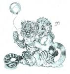 <3 balloon cub dessert duo feline food fur greyscale holding_food holding_object ice_cream leopard mammal monochrome open_mouth pawpads pencil_(artwork) pictographics semi-anthro simoon simple_background speech_bubble spots spotted_fur striped_fur stripes tongue traditional_media_(artwork) whiskers white_background young  Rating: Safe Score: 0 User: treos Date: August 31, 2015