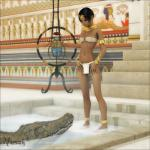 3d ambiguous_gender clothed clothing crocodile egyptian female feral human in_water jewelry loincloth mammal nipple_slip nipples reptile scalie skimpy vaesark   Rating: Questionable  Score: 19  User: chdgs  Date: November 03, 2013