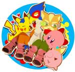 alien ambiguous_gender anthro avian bird canine crossover falco_lombardi fox fox_mccloud group jigglypuff kirby kirby_(series) male mammal nintendo pikachu pokémon star_fox super_smash_bros unknown_artist video_games  Rating: Safe Score: 1 User: Cαnε751 Date: June 14, 2015""