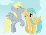 blonde_hair cutie_mark derpy_hooves_(mlp) duo equine female feral friendship_is_magic hair mammal my_little_pony nibble pegasus raindrops_(mlp) unknown_artist wings   Rating: Safe  Score: 1  User: Trapper  Date: June 12, 2011