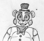 2015 animatronic anthro bear black_and_white bow_tie five_nights_at_freddy's five_nights_at_freddy's_2 hat inkyfrog looking_at_viewer machine male mammal monochrome robot simple_background smile solo top_hat toy_freddy_(fnaf) video_games white_backgroundRating: SafeScore: 0User: JAKXXX3Date: March 25, 2017