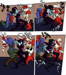 <3 armor black_hair blue_skin bone boots cabaltherapist clothing dancing eye_patch eyewear female fish footwear gloves group hair hair_over_eye japanese_text jojo's_bizarre_adventure machine male marine mettaton monster muscular muscular_female onomatopoeia papyrus_(undertale) pose red_hair robot skeleton sound_effects text undertale undyne  Rating: Safe Score: 4 User: ROTHY Date: October 01, 2015