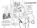 2014 <3 absurd_res anthro anthrofied applejack_(mlp) bell black_and_white blush book book_shelf bookshelf breasts broken_horn clothing collar cum cum_in_mouth cum_inside cum_on_breasts cutie_mark desk dialogue earth_pony eggonaught english_text equine fall_of_equestria female freckles friendship_is_magic fur hair hi_res horse legwear letter mammal monochrome my_little_pony note nude pinkie_pie_(mlp) pony poster pussy slave solo sore stockings tears text twilight_sparkle_(mlp) unseen_character  Rating: Explicit Score: 1 User: 2DUK Date: November 18, 2014