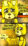 animatronic bear bow_tie comic crying duo five_nights_at_freddy's five_nights_at_freddy's_3 golden_freddy_(fnaf) lagomorph machine male mammal mechanical oil rabbit riznben_(artist) robot springtrap_(fnaf) tears video_games yellow_eyes  Rating: Safe Score: 0 User: Vallizo Date: June 29, 2015""