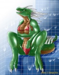 big_breasts bikini breasts clothed clothing digitigrade dragon female fingering green_scales hand_in_panties inside jekku masturbation muscles narse nipples scalie shower sitting skimpy solo swimsuit   Rating: Explicit  Score: 14  User: LurkDragon  Date: June 11, 2009