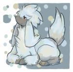 ambiguous_gender canine dog furfrou monochrome nintendo pokémon poodle red_eyes video_games   Rating: Safe  Score: 3  User: Rykela  Date: December 05, 2013