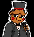 animatronic anthro bear five_nights_at_freddy's five_nights_at_freddy's_2 hat inkyfrog machine mammal mechanical microphone robot solo suit top_hat toy_freddy_(fnaf) video_games   Rating: Safe  Score: 1  User: Maz!nLaw14  Date: April 10, 2015