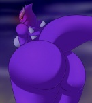 anthro back_turned ben300 big_butt big_thighs blush breasts butt female huge_butt legendary_pokémon looking_at_viewer looking_back lugia nintendo nude pokémon pokémorph purple_body red_eyes shadow_lugia solo video_games wide_hips   Rating: Questionable  Score: 19  User: Lolian  Date: January 11, 2012