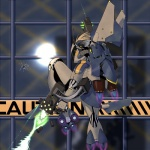 2011 ambiguous_gender armor blonde_hair building chazcatrix flying gun hair helmet jet power_armor ranged_weapon solo weapon wings yellow_eyes   Rating: Safe  Score: 4  User: ChaZcaTriX  Date: August 23, 2011