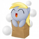 2012 bag blonde_hair blue_skin chibi cute derpy_hooves_(mlp) digital_media_(artwork) equine eyelashes eyes_closed female feral friendship_is_magic front_view hair happy headshot_portrait horse mammal my_little_pony open_mouth open_smile paper_bag pattern_background plain_background polka_dots_background pony portrait simple_background smile solo stardustxiii white_background young   Rating: Safe  Score: 32  User: Pand0ric  Date: March 21, 2013