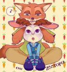 2016 anthro canine chu_(artist) disney female fox judy_hopps lagomorph male mammal nick_wilde rabbit zootopia  Rating: Safe Score: 0 User: Vallizo Date: May 06, 2016