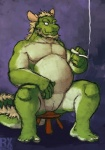 aledonrex animal_genitalia anthro biceps big_muscles chinese_dragon chubby cigarette digitigrade dragon genital_slit green_body green_skin horn looking_at_viewer male morenatsu muscles nude pecs scalie slit solo spread_legs spreading tappei   Rating: Explicit  Score: 15  User: BlackBoltEX  Date: August 29, 2013