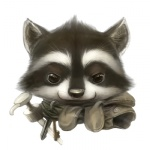 2011 ambiguous_gender anthro cub keys mammal procyonid raccoon silverfox5213 simple_background soap_pump solo white_background young
