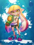 2015 abstract_background ambiguous_gender angry atryl band-aid bandage big_ears cephalopod clothing footwear gun hair humanoid inkling long_hair looking_at_viewer marine mask nintendo orange_eyes orange_hair pointy_ears ranged_weapon shoes simple_background solo splatoon squid teeth tentacle_hair tentacles video_games weapon young  Rating: Safe Score: 1 User: Emserdalf Date: July 28, 2015