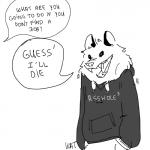 2016 absurd_res ambiguous_gender anthro clothed clothing dialogue drawdroid english_text fully_clothed greyscale hi_res hoodie ian_(drawdroid) line_art mammal marsupial meme monochrome open_mouth opossum sharp_teeth simple_background speech_bubble standing teeth text the_truth tongue unseen_character white_backgroundRating: SafeScore: 51User: Cat-in-FlightDate: June 21, 2017