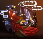 ... 2016 3_toes alternate_color anthro arcticfrigidfrostfox balls claws collar dialogue digital_drawing_(artwork) digital_media_(artwork) dragon english_text eyes_closed fakémon fan_character fellatio furry_character_wearing_fursuit fursuit garchomp hi_res japanese_text male male/male nintendo nude open_mouth oral penis pokémon pokémon_(species) rubber sandnite sandslash scalie sex shiny simple_background sound_effects speech_bubble suit_transformation teeth text thought_bubble toe_claws toes tongue tongue_out transformation video_games wings